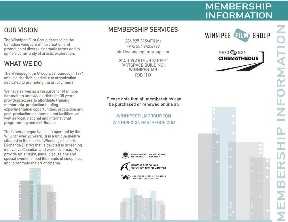 Winnipeg Film Group Pamphlets and Advertisements — Jacquelyn Hébert
