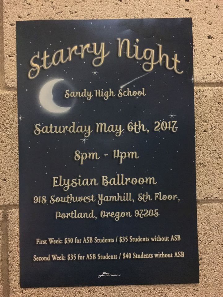 Prom tickets on sale starting today (April 3, 2017) | Sandy High ...