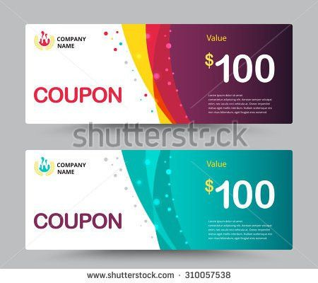 Gift Voucher Card Template Design Special Stock Vector 310057538 ...