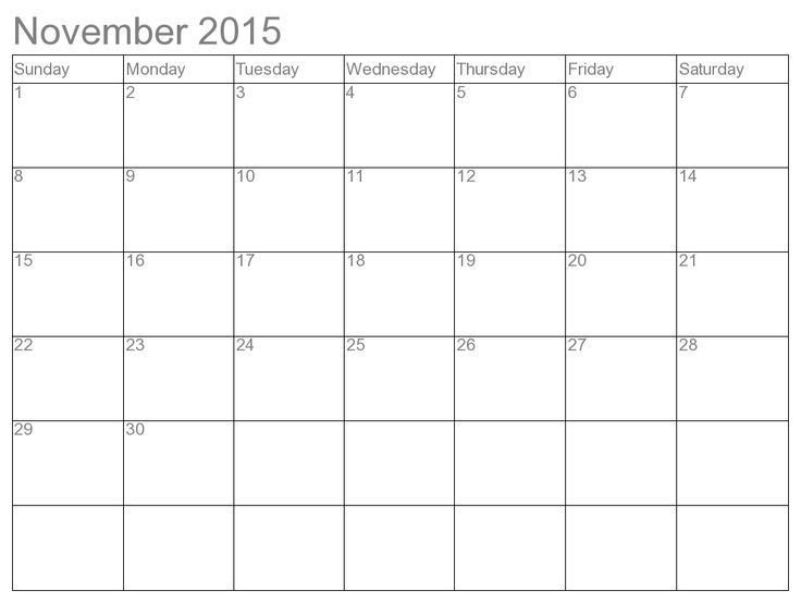 56 best November 2015 Calendar images on Pinterest | November 2015 ...