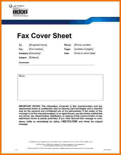 6+ fax cover sheet medical | Financial Statement Form