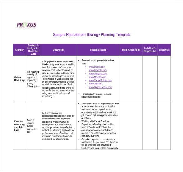 Strategy Template – 19+ Free Word, Excel, PDF Document Download ...