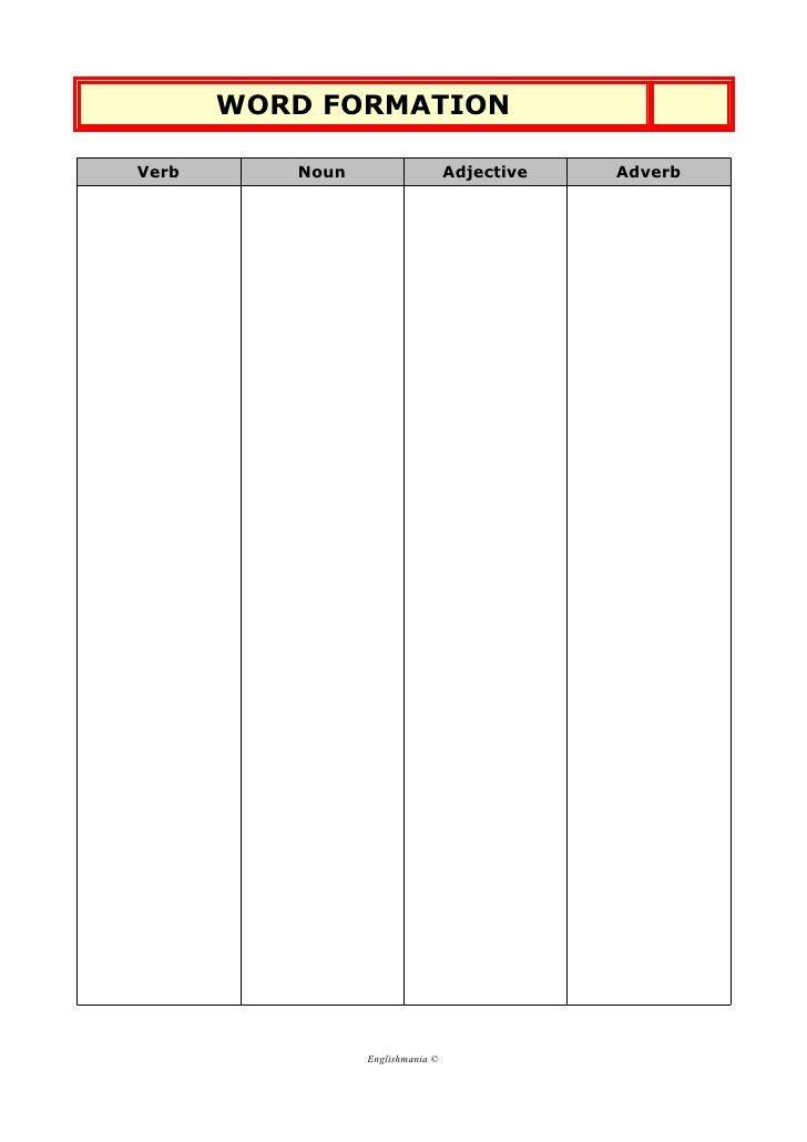 Vocabulary notebook template