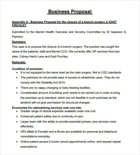 Free Business Proposal Template | Calendar Template Letter Format ...