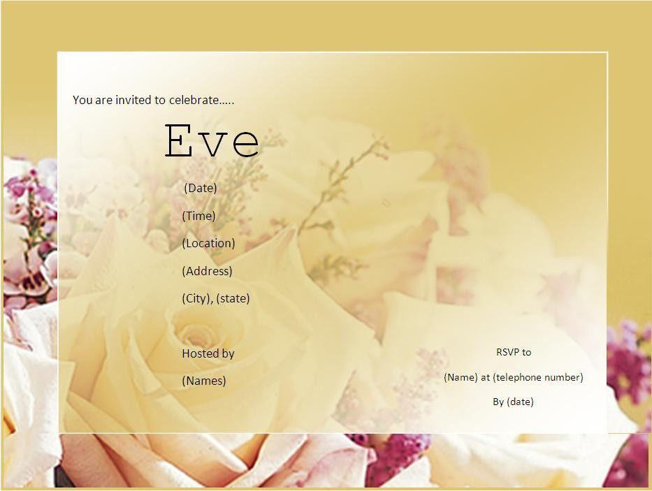 Free Invitation Templates   Free Printable Word Templates,