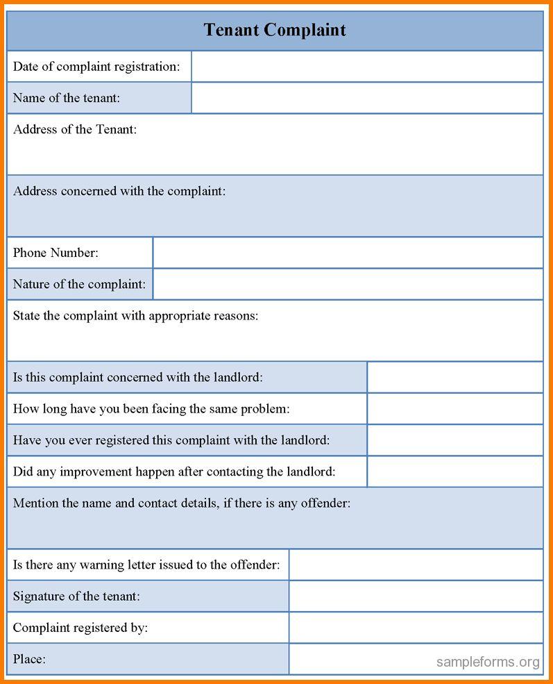 4 complaint form template | Receipt Templates