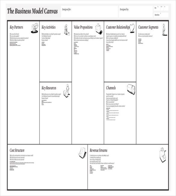 Business Model Canvas Template Word Download | business letter ...