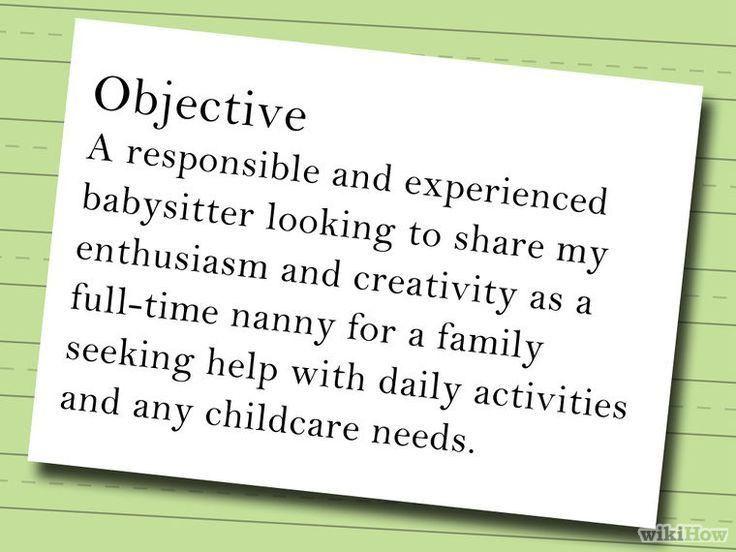 Baby sitting resume - cvlook05.billybullock.us
