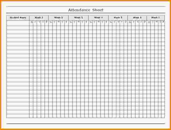 Printable Attendance Sheet.organize Vendour.PNG - Letter Template Word