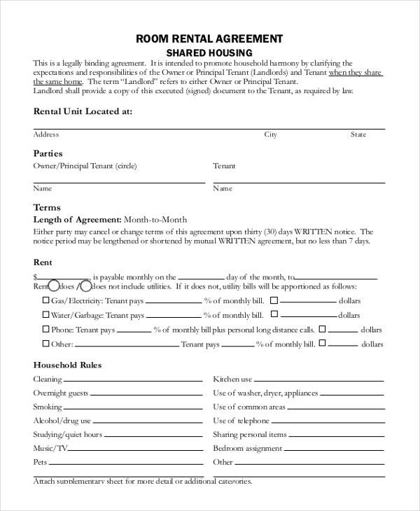 Rent Lease Form Free Rental Forms To Print Free And Printable – Rent Lease Form