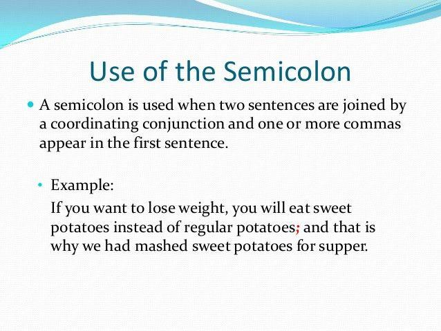 The semicolon final one