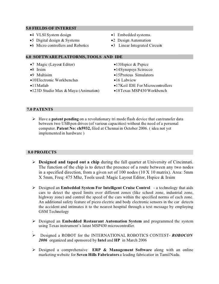 Download Embeded System Engineer Sample Resume ...