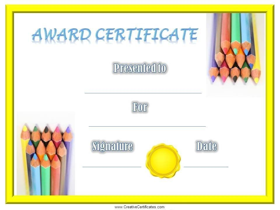 Children's Certificates - free and customizable