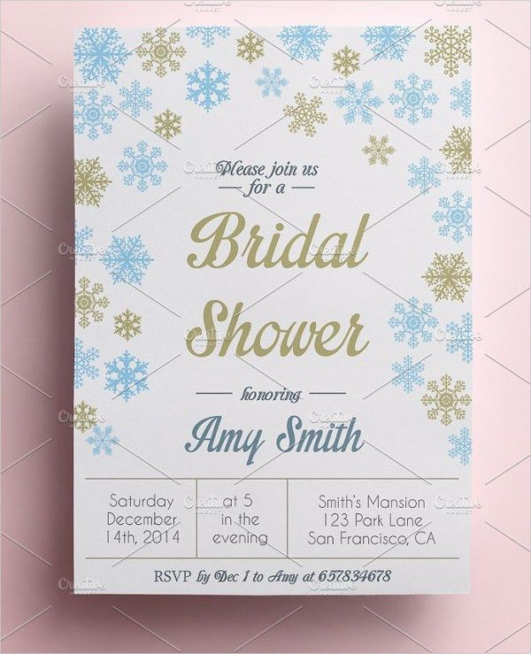 21+ Bridal Shower Invitation Templates - Free PSD, Vector AI, EPS ...