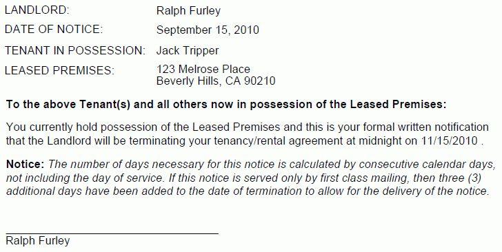 Oregon 60 Day Termination Notice-No Cause | EZ Landlord Forms