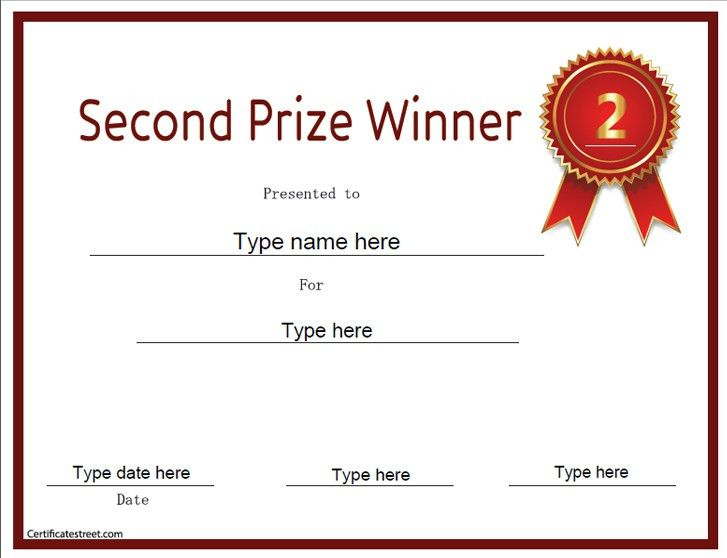 1st prize certificate template illustration of sample certificate second prize certificate template certificate templates yelopaper Images