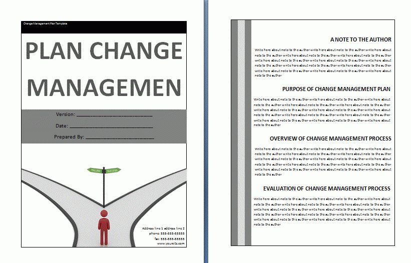 Change Management Plan Template | Free Business Templates