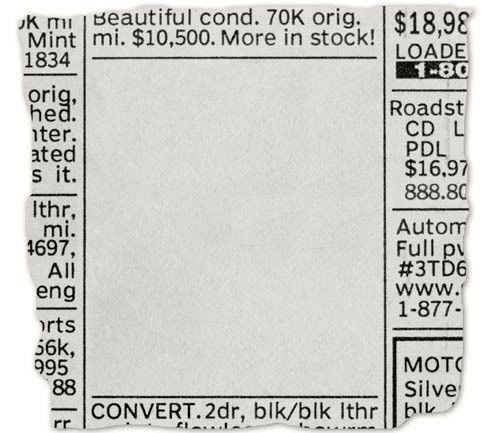 Newspaper Ad Template. Bold, Square Display Ad The Final Newspaper ...