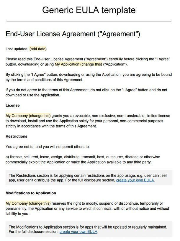 Sample Subscription Agreement. Master Service Agreement Download .