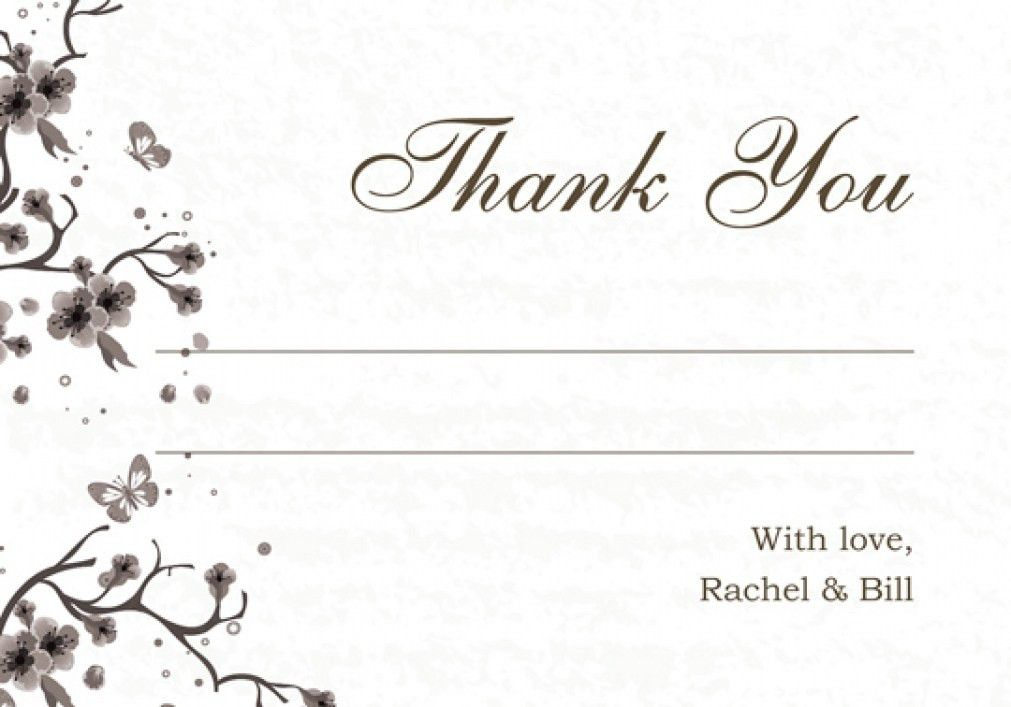 Amazing Free Wedding Thank You Card Templates DA7A5 – Dayanayfreddy