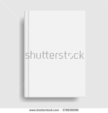 Book Cover Mockup Blank White Template Stock Vector 578836096 ...