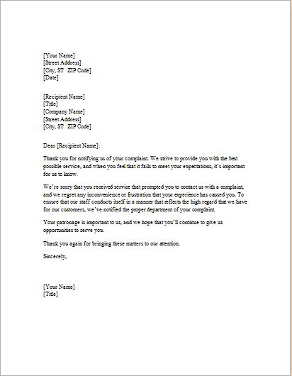 Laundry Service Apology Letter to Client | Word & Excel Templates