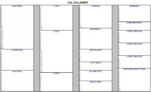 Coaches Learning Network ---- Coordinating Call Sheet /Practice Script