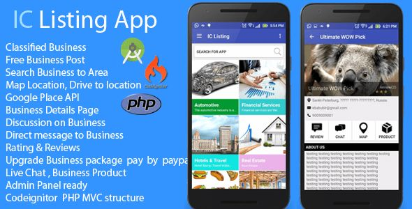 Android App - IC Listing Classified Search Engine by ShreehariWeb ...