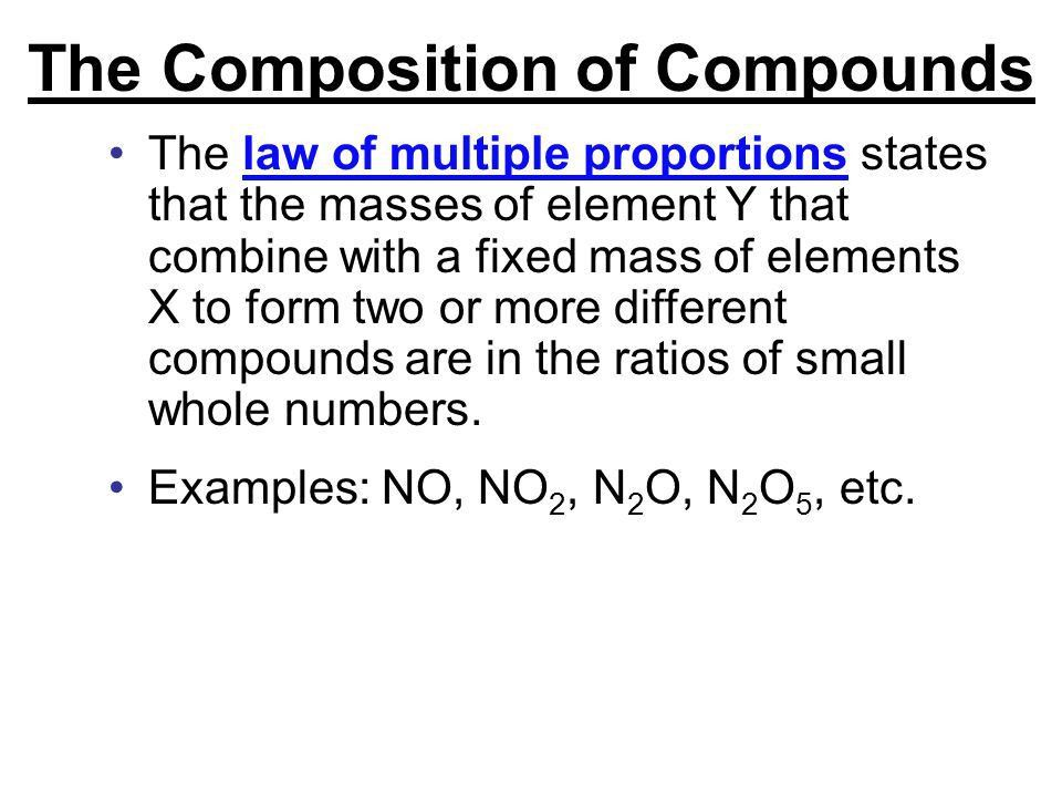Chapter 4 Atoms, Ions, and Compounds. The Composition of Compounds ...