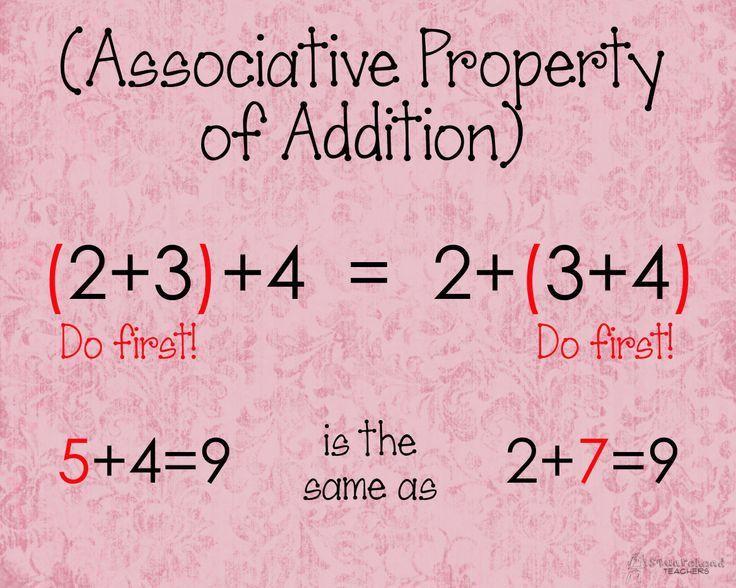 10 best Associative Property images on Pinterest | Math properties ...