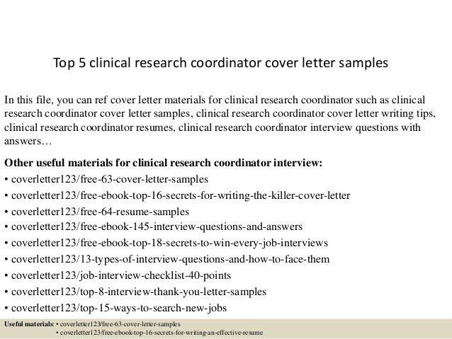 Beautiful Clinical Research Coordinator Cover Letter 27 In Resume ...