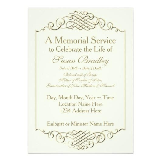 Rainbow 2 – Funeral Memorial Service Announcement | Invitations 4 U