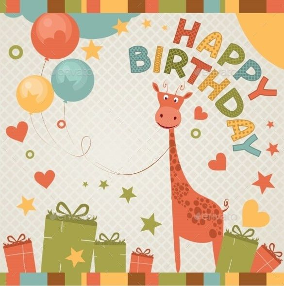 21+ Birthday Card Templates U2013 Free Sample, Example, Format .  Happy Birthday Card Template Free Download