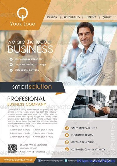 145 Best Corporate & Business Flyers Print Templates 2015 | Frip.in