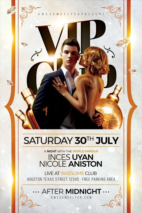 FFFLYER | VIP Club Party Flyer Template - Best Elegant Party Flyer ...