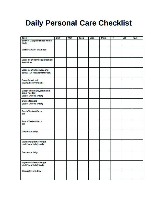 Free Daily Checklist Template and Its Purposes , Daily checklist ...