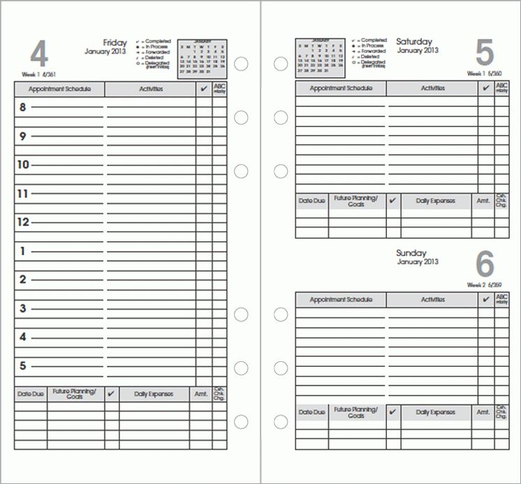 Top 5 Free Daily planner Templates - Word Templates, Excel Templates
