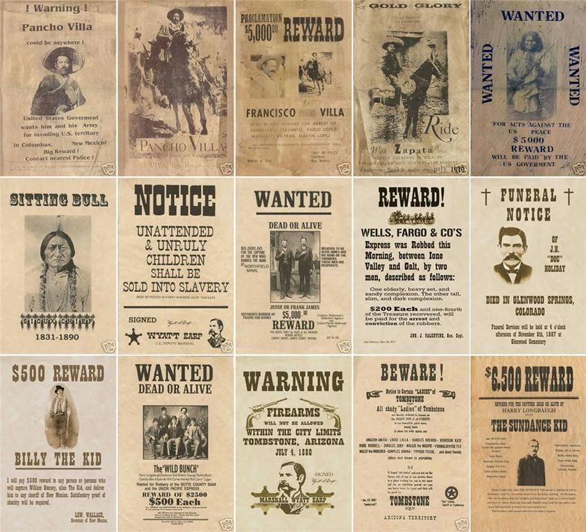 Old Wanted Posters and Wild West from W3 | Triton World