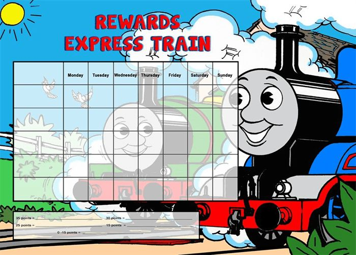 7 Best Images of Thomas Sticker Chart - Thomas the Train Potty ...