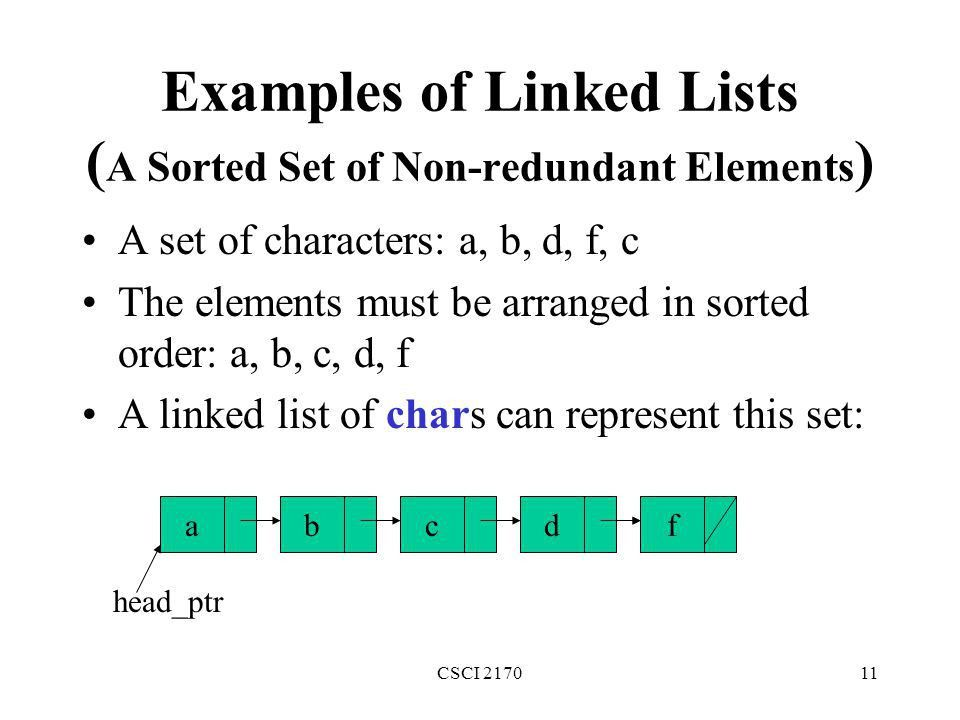 Linked lists CSCI ppt download