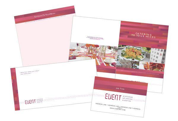 Corporate Event Planner & Caterer Print Template from Serif.com