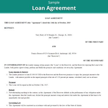Personal Loan Agreement Template Archives - Word Templates