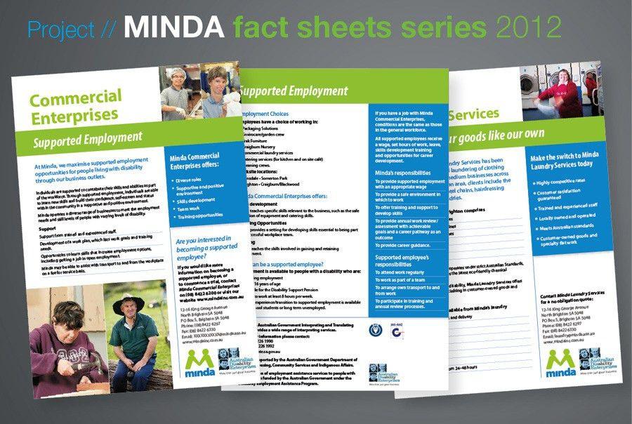MINDA fact sheet series - Anita Gibbs Graphic Design, Freelance ...