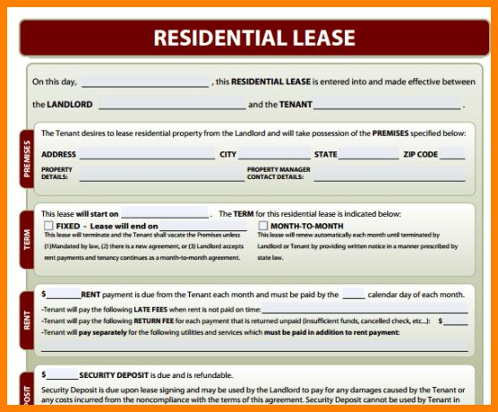 5+ downloadable residential lease agreement | ledger paper