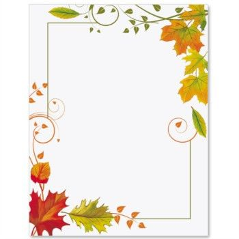 Fall Freshness Border Papers | Cards, Paper cards and Paper background