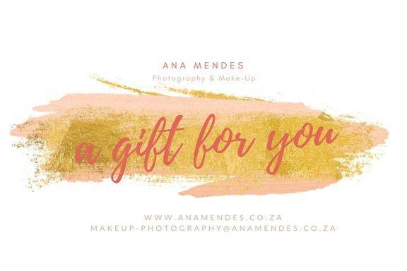 Photography Gift Voucher & Make-Up Gift Vouchers Johannesburg