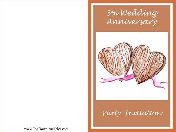 Free Printable Wedding Anniversary Decorations & Invitation Templates