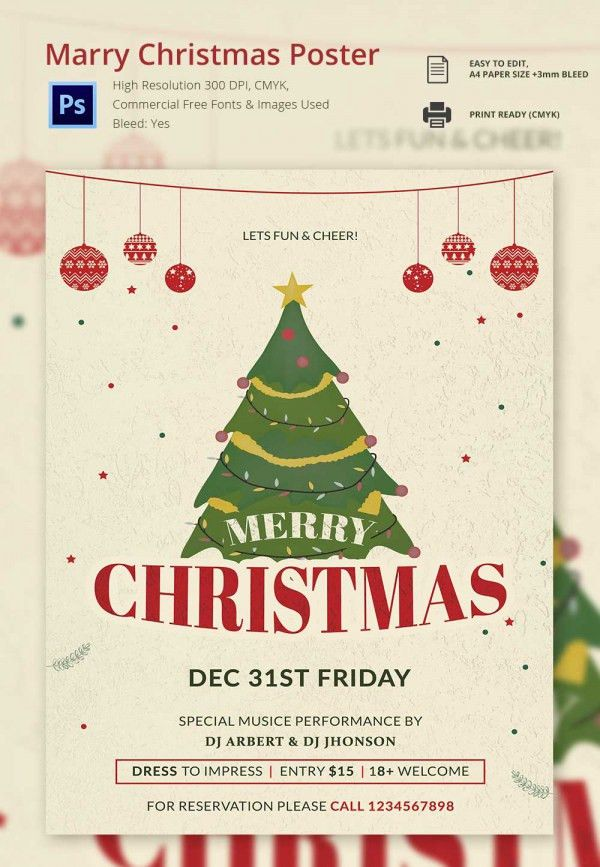 22+ Christmas Posters - PSD Format Download | Free & Premium Templates