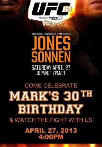 UFC Ultimate Fighting or Boxing Birthday Party Ticket Invitation ...