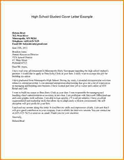 9+ high school student cover letter samples | Invoice Template ...